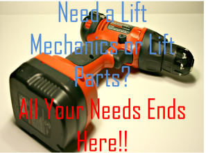Need a Lift Mechanics or Lift Parts? All Your Needs Ends Here
