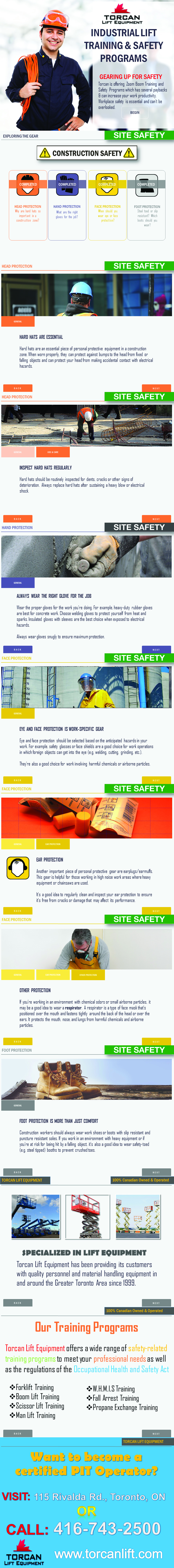 INDUSTRIAL LIFT TRAINING & SAFETY PROGRAMS INFOGRAPHIC