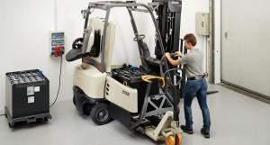 Forkliftbattery power
