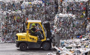 forklift recycling operations