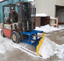 Forklift snow plow