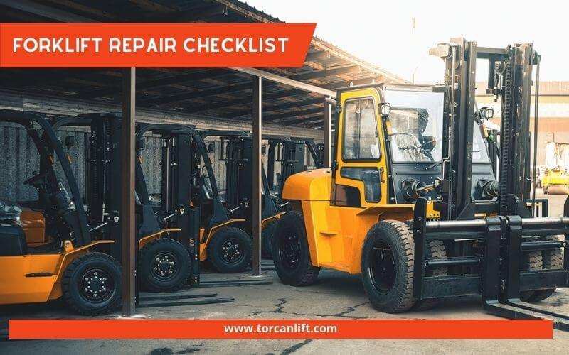 Forklift Repair Checklist