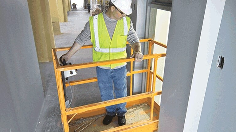 Low level scissor lift
